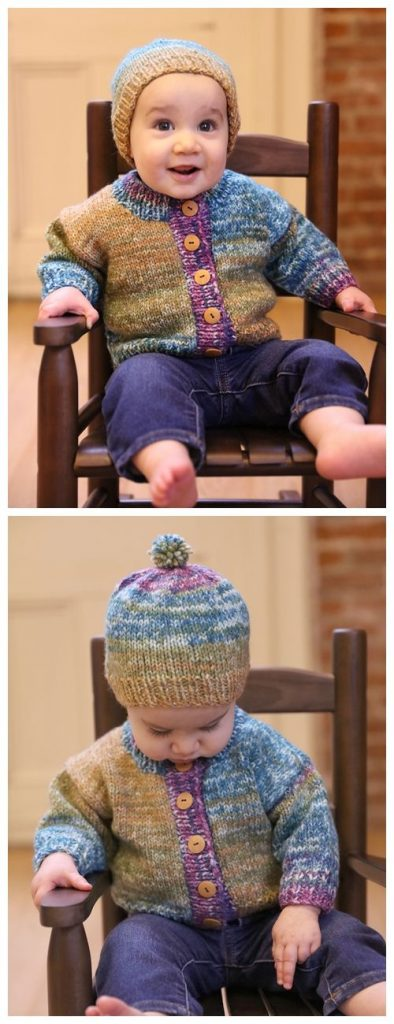 Baby Cardigan and Hat Free Knitting Pattern