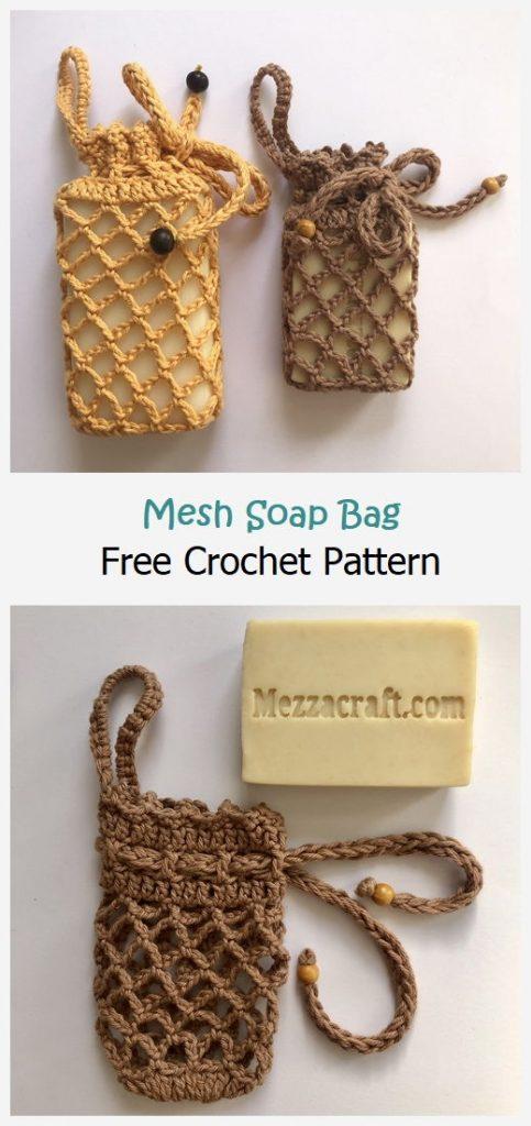 Mesh Soap Bag Free Crochet Pattern