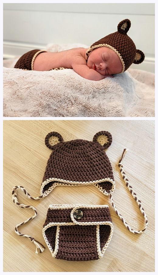 Newborn Hat and Diaper Cover Free Crochet Pattern